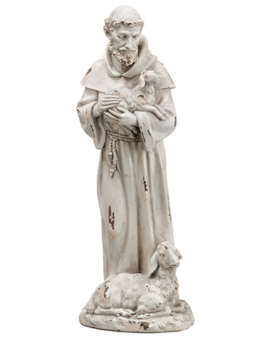 "15.5"" St. Francis  Antique Gray (pack of 2)"