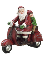 "10"" Santa w/Scooter  Red Green (pack of 4)"