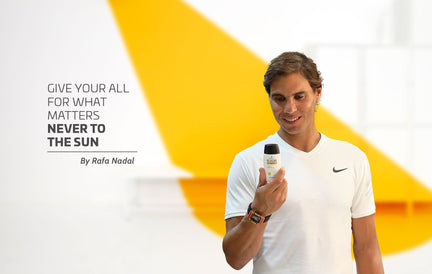 "Rafa Nadal with Heliocare: ""Give your all for what matters never to the sun"""