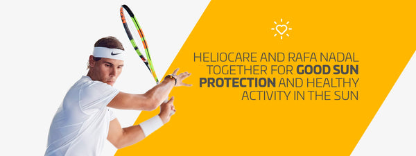 Heliocare and Rafa Nadal together for good sun protection and healthy activity in the sun