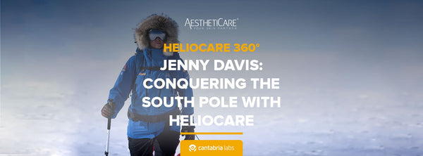 Jenny Davis conquering the South Pole with Heliocare