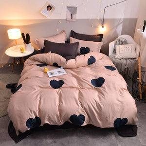 Eyelash Star Yellow 4pcs Kid Bed Cover Set Cartoon Duvet Cover Adult Child Bed Sheet and Pillowcases Comforter Bedding Set 61018