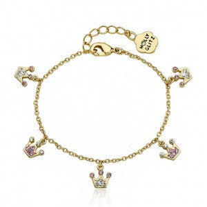 Pretty Princess Pink Crystal Charm Bracelet