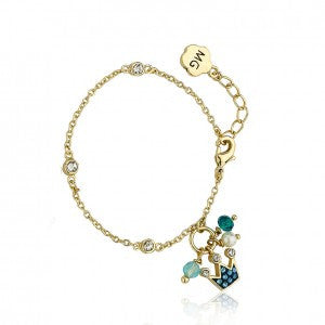 Pretty Princess Blue cluster crown bracelet