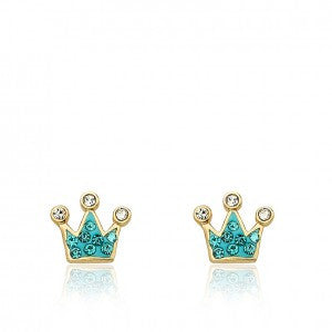Pretty Princess Aqua Stud Princess Earrings