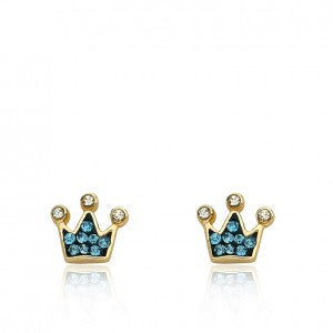 Pretty Princess Blue Stud Princess Earrings