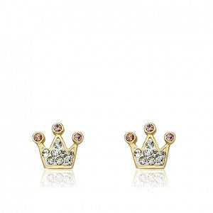 Pretty Princess White Stud Princess Earrings