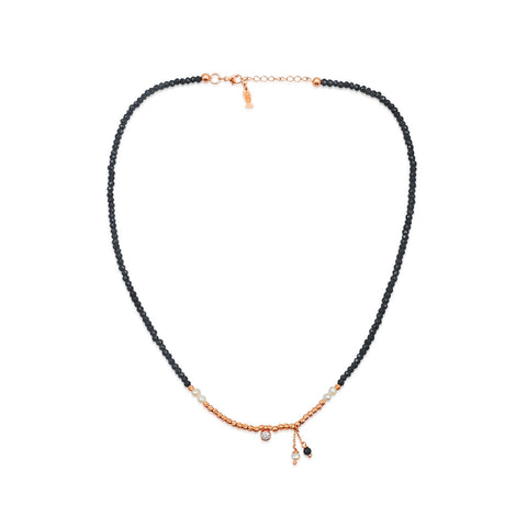 Lueur Necklace with Black Spinel Strand