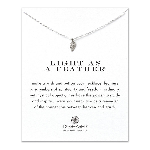 Light as a feather, feather necklace in Sterling Silver