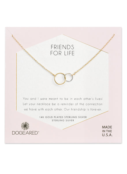 Friends for Life Necklace In Gold