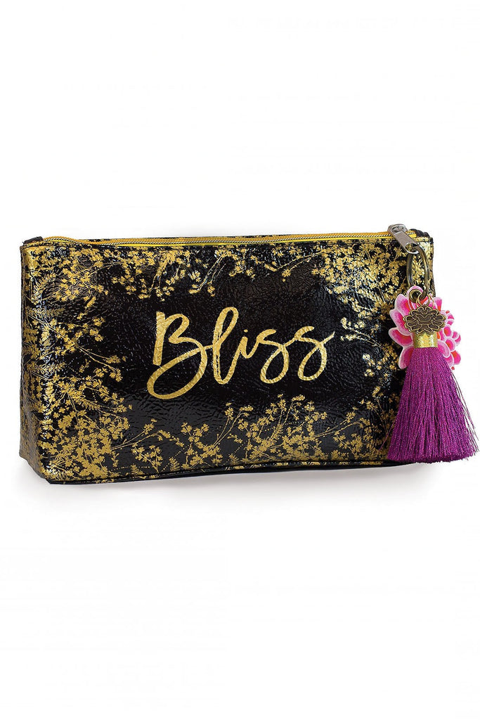 Foiled Flowers Small Accessory Pouch