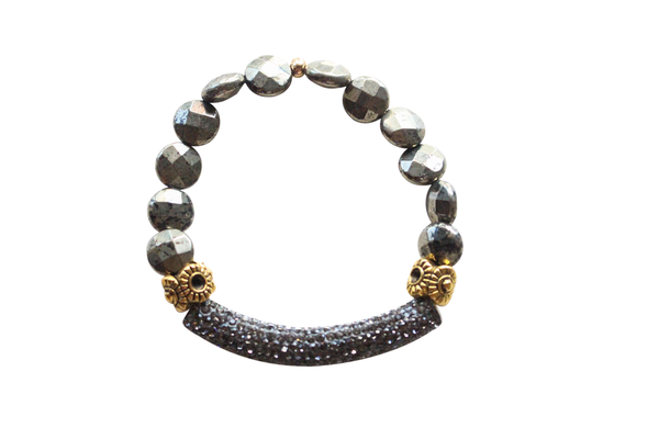 All that glitters bracelet in Coin Pyrite