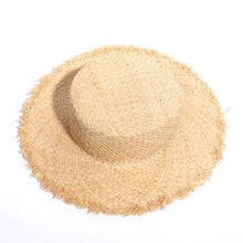 Load image into Gallery viewer, Kensley Frayed Straw Hat