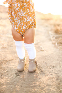 Talia Knee High  Sock, Milk