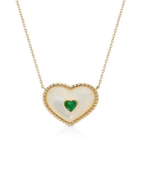 In My Heart Necklace in MOP
