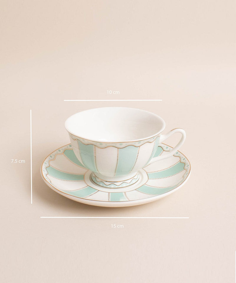 Prickly Pear Alice Tea Cup & Saucer Set with Spoon