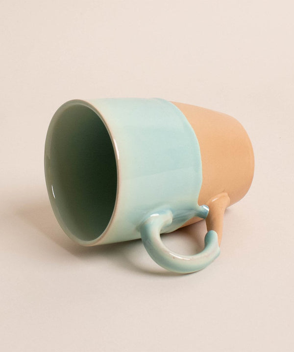 Prickly Pear half glazed 310ml Ceramic Coffee Mug with Glazed Detail