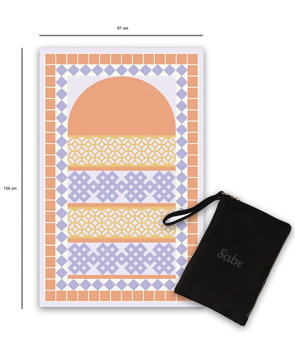 Sabr Alhambra Orange Compact Prayer Mat