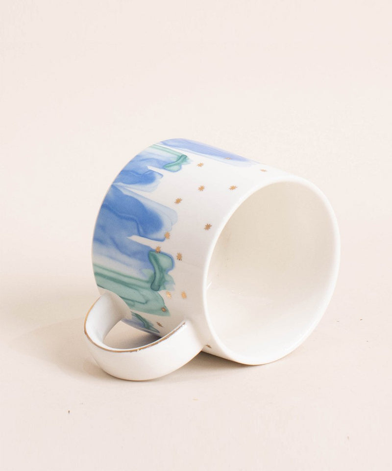 Prickly Pear Stargazer 300ml Grey Porcelain Mug