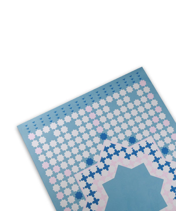 Sabr Marrakesh Blue & Pink Travel Compact Prayer Mat