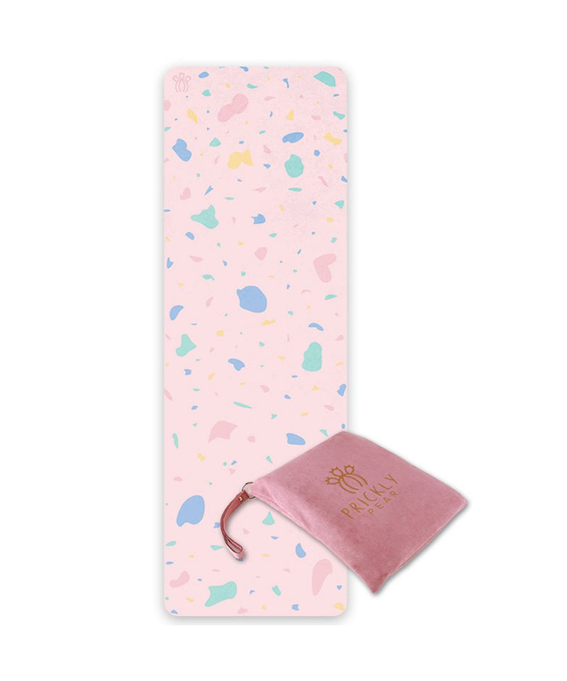 "Prickly Pear ""Abstract"" Pink Travel Yoga Mat"