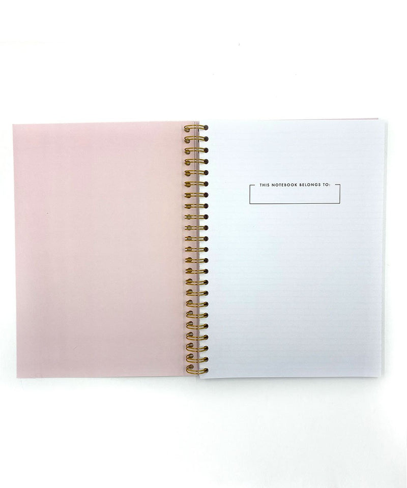 Prickly Pear Spiral Bound Floral A4 PU Notebook Pink