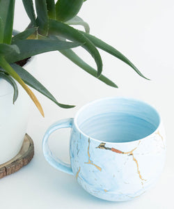 Prickly Pear Gold Fleck Ceramic Marble Mug