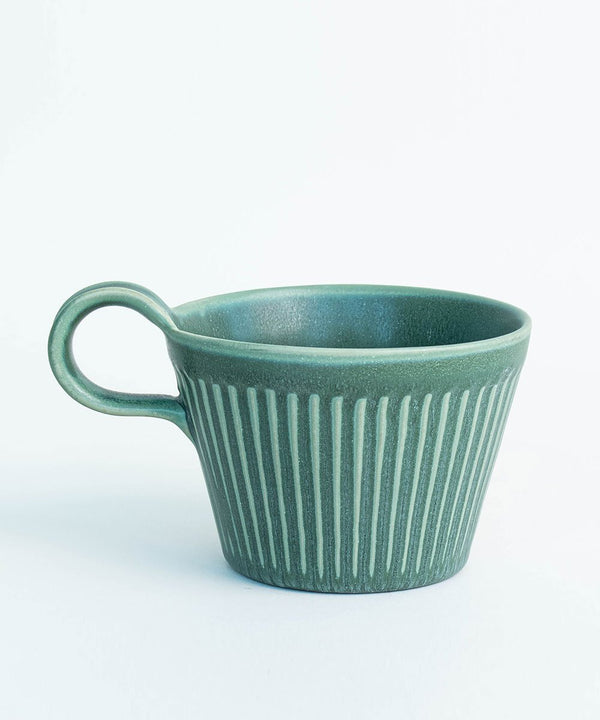 Prickly Pear Haya 320ml Ceramic Mug - Green