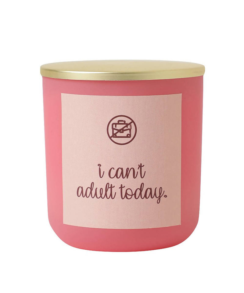 Can't Adult Today Vanilla Candle