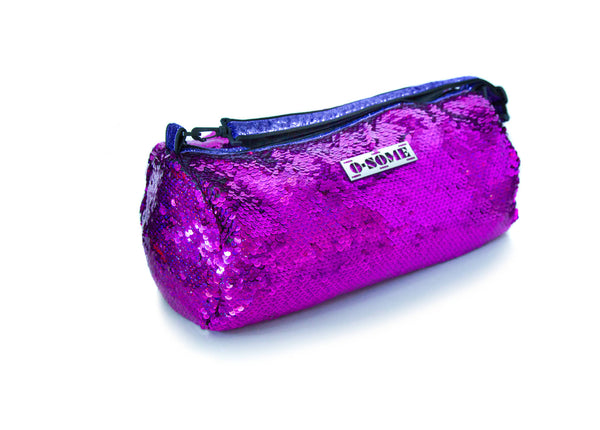 Sequin Small Duffle Fuchsia Mirror