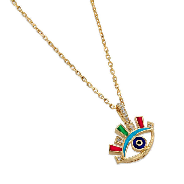 Crazy Eyes Multicolor Pendant