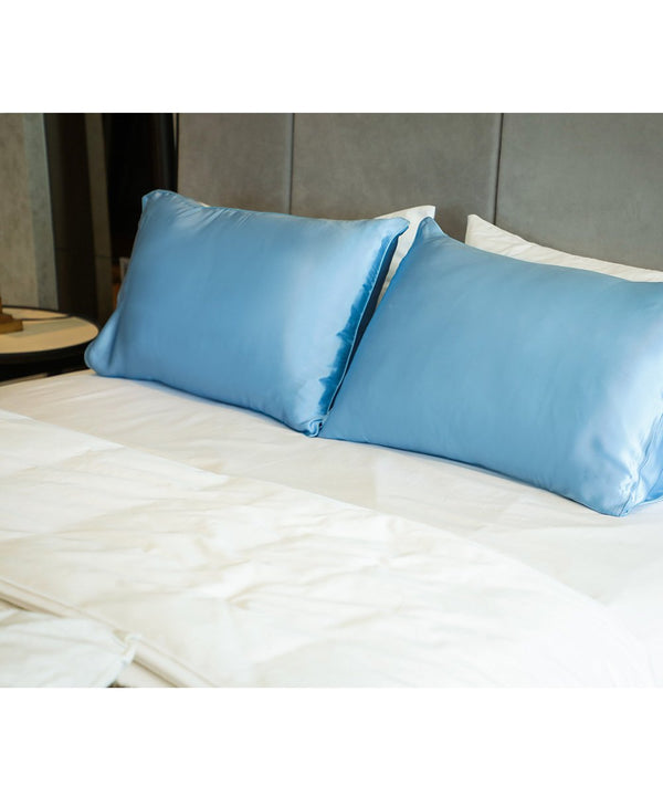 Mulberry Silk Pillowcases - Sky Blue