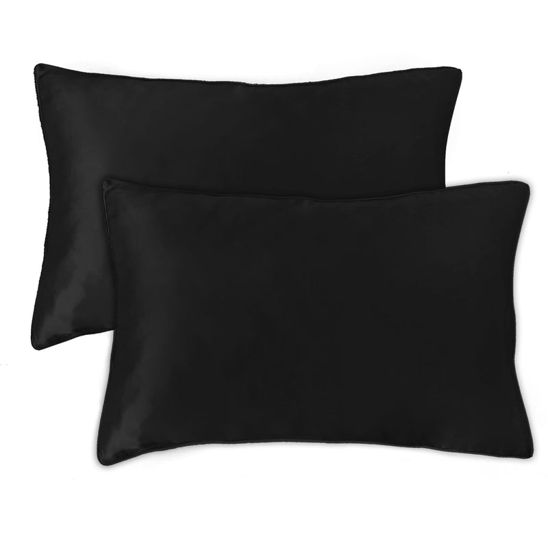 Mulberry Silk Pillowcases - Black