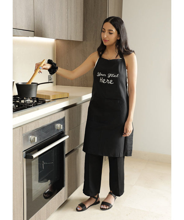 Customized Embroidery Apron - Cursive