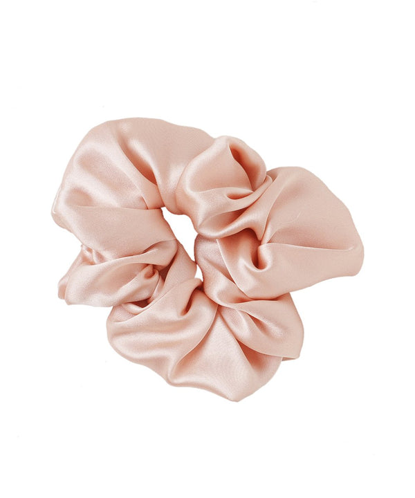 Pack of 3 Silk Scrunchies - Pastel Pink