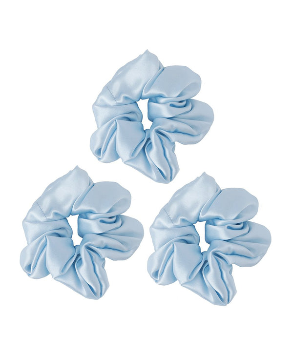 Pack of 3 Silk Scrunchies - Sky Blue