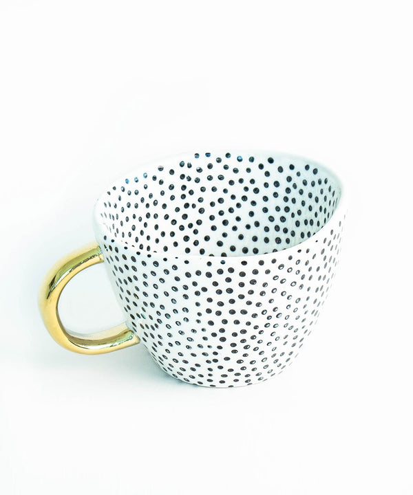 Prickly Pear Lina Ceramic Coffee Mug - Dotty