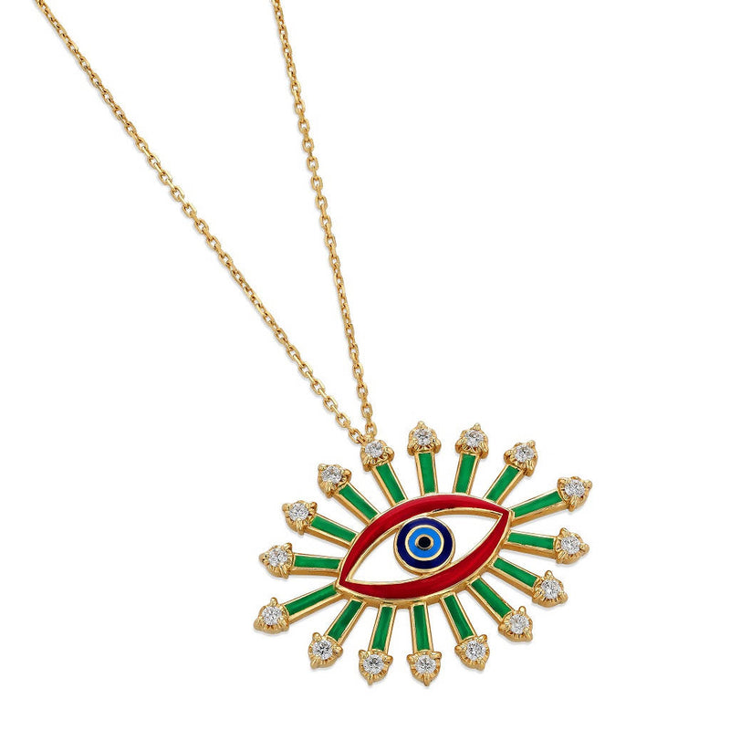 Crazy Eyes Large Pendant