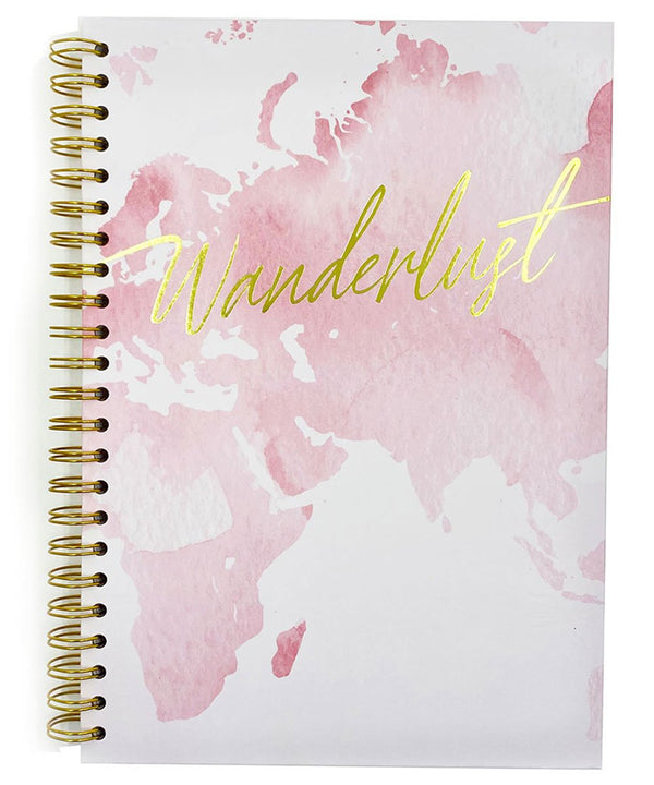 Prickly Pear Spiral Bound Wanderlust A4 Hardback Notebook Pink