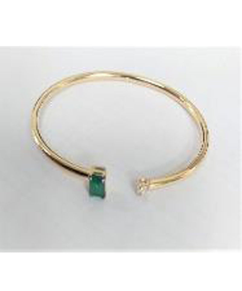 Art Deco Emerald Bangle