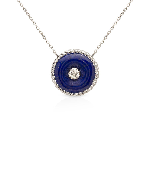 The Knot Necklace in Lapis Lazuli