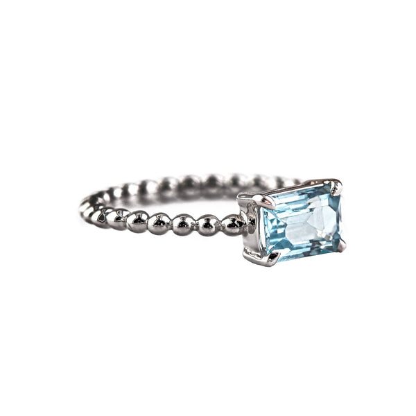 Circle of Life Ring - Blue Topaz