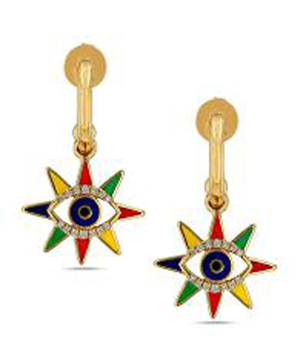 Multicolor Sun Crazy Eyes Earrings