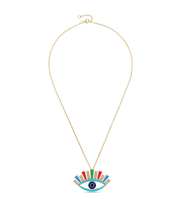 Multicolor Crazy Eyes Pendant