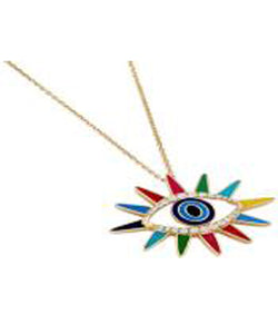 Sun Crazy Eyes Pendant - Multicolor