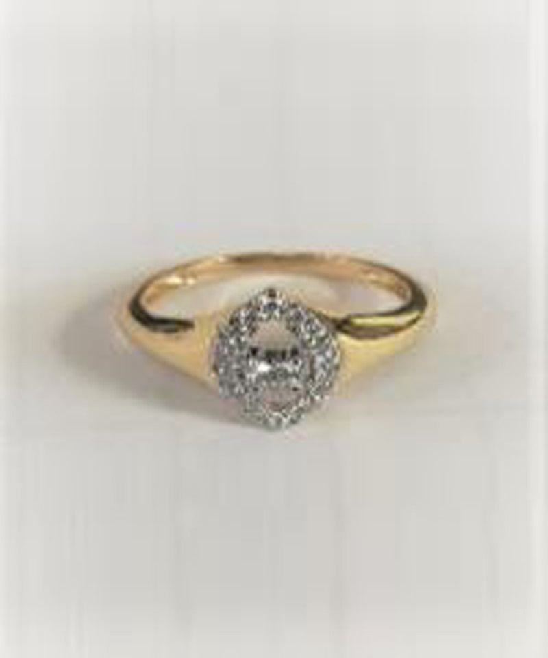 Crazy Eyes Ring - Yellow Gold and Diamond