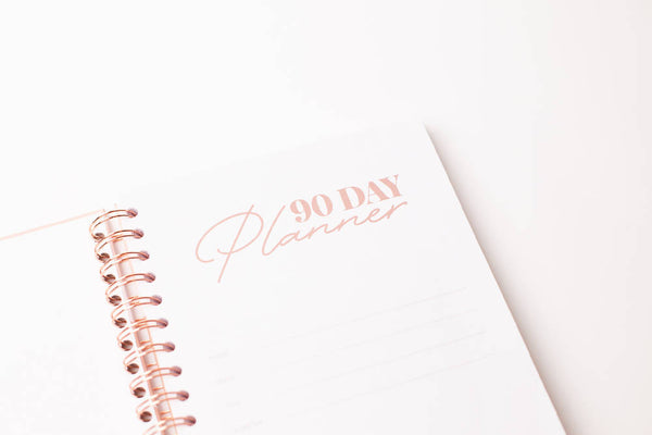 Achievher x Prickly Pear 90 Day Planner, Hardback B5 - Pink