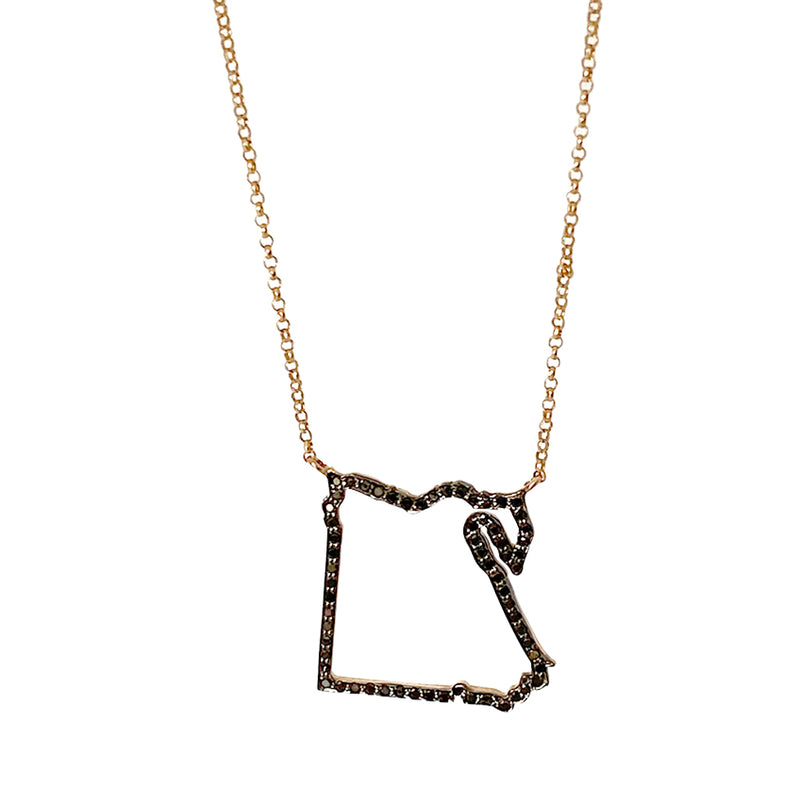 Egypt Outline Map Necklace