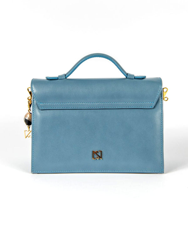 Foo Bag - Blue Nappa Leather