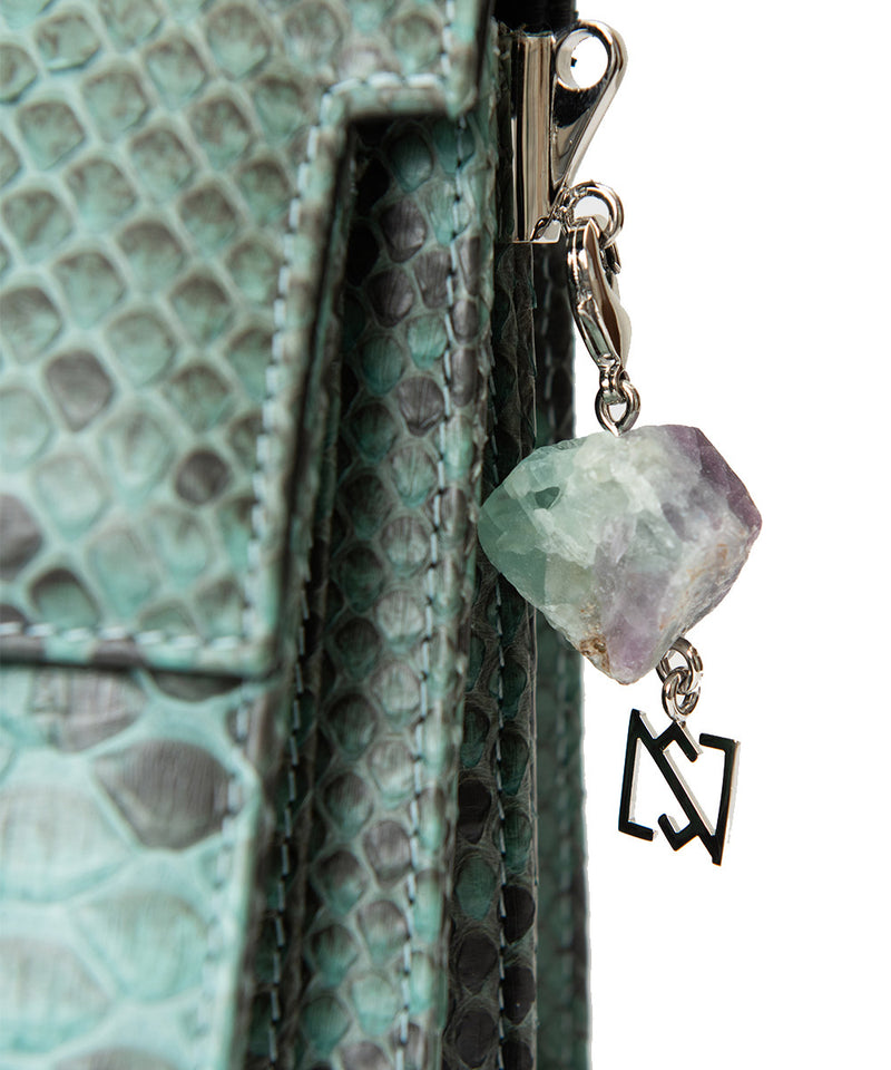Foo Bag - Green Python Leather